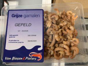 Hollandse garnalen gepeld