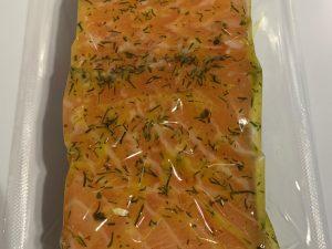 Zalmfilet mosterd-dille (ca. 200 gram)